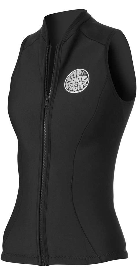 2018 Rip Curl Ladies G Bomb 1mm Sleeveless Vest in Black