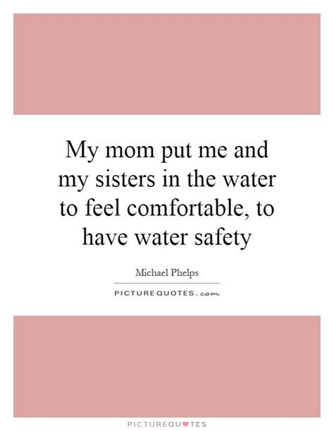 How To Make A Feel Comfortable by Put Me And In The Water To Feel