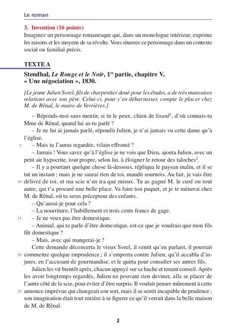Exemple De Lettre Sujet D Invention Objet D 233 Tude Le Et Ses Personnages Visions De L Homme Et D