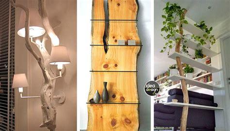 fai da te arredamento arredi creativi con i tronchi 20 idee stupende