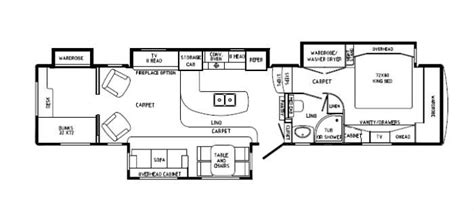 rv suites floor plan custom rv floor plans drv mobile suites 43tksb4