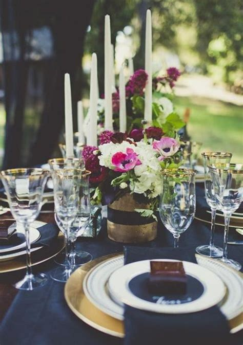 beautiful love the gold and navy wedding blue