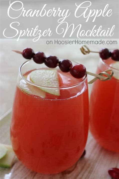 cranberry apple spritzer mocktail easy  ingredient
