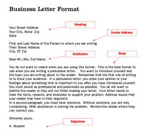Business Writing Templates Letter Writing Template 10 Free Word Pdf Documents