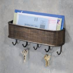 key and letter rack holder wall hooks hook ring storage