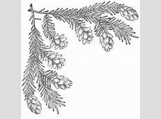 Pine Cone Corner, Upper Left | ClipArt ETC Free Black And White Clip Art Letters