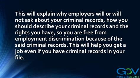 Discrimination In Employment On The Basis Of Criminal Record Ppt Criminal Records And Employment Discrimination