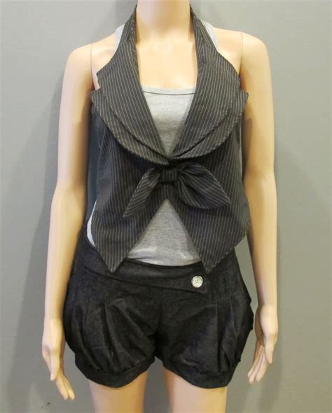 shop the looks preloved grey ribbon vest