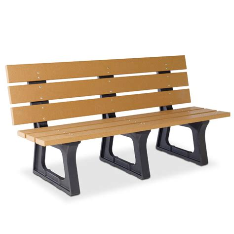 recycled plastic benches recycled plastic 6 wide plank bench benches upbeat com