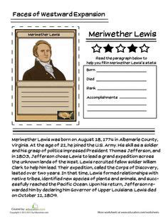 free printable lesson plans on lewis and clark 1000 images about famous historical figures on pinterest
