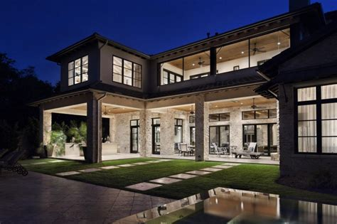luxury patio home plans rustic texas home with modern design and luxury accents