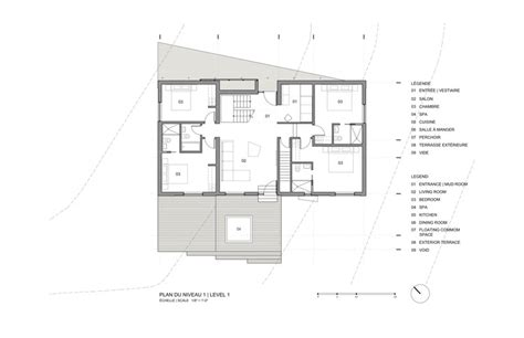 floor plan la the quot blanche quot chalet acdf architecture archdaily