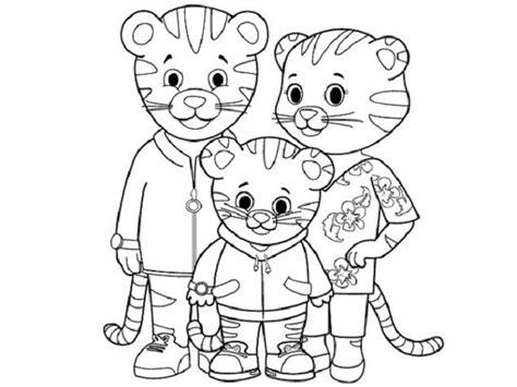 coloring page of daniel tiger daniel tiger coloring pages printable coloring pages