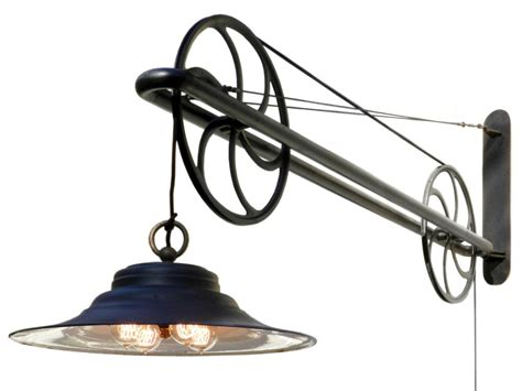 Wall Sconce Swing Arm Large Pulley Industrial Swing Arm Lamp At 1stdibs
