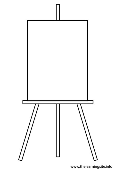 painting blank page easel clipart black and white clipartsgram