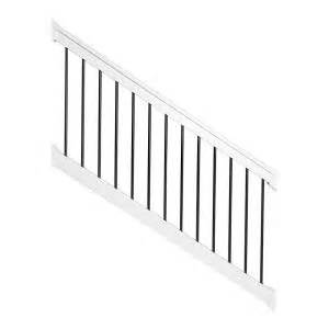 Vinyl Stair Railing Home Depot by Weatherables Bellaire 3 5 Ft H X 96 In W White Vinyl