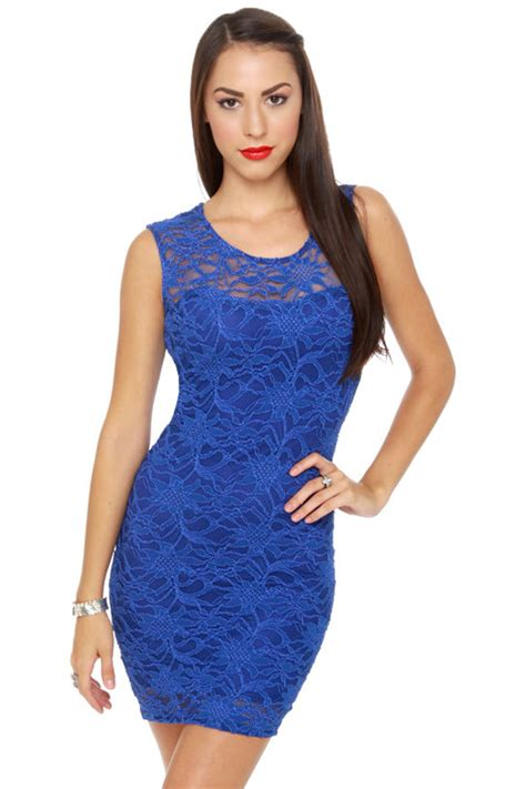 43564 Blue Royal Lace S M L Dress Le230517 Import Blue Dress Royal Blue Dress Lace Dress 40 00