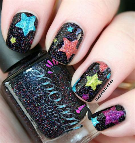 Pedicure Colors To The Stars | 50 cool star nail art designs with lots of tutorials and