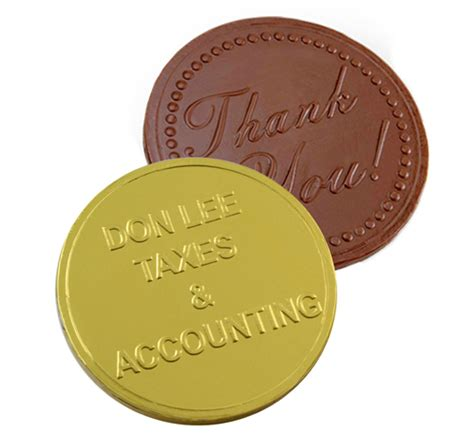 custom chocolate coins from chocofavors com