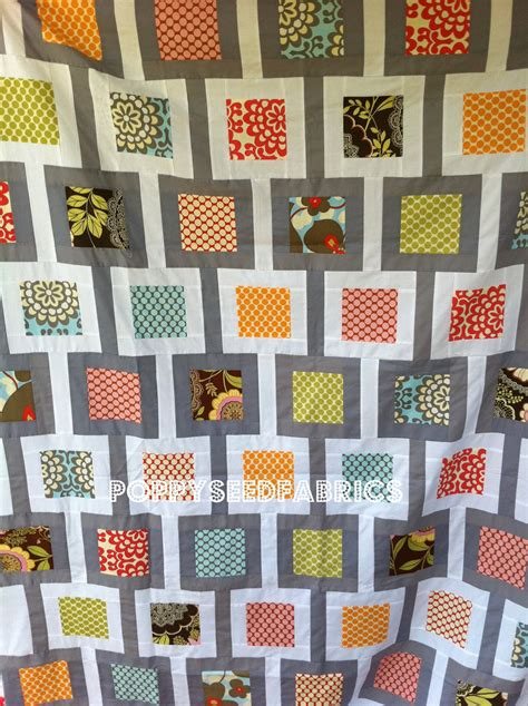 pattern link chain link quilt kit from poppy seed fabrics diary of a
