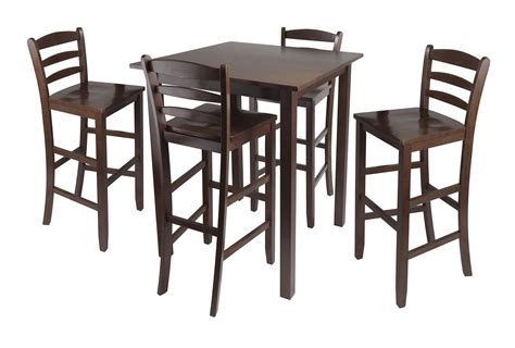 High Top Dining Table And Chairs Simple Small High Top Kitchen Table With 4 Chairs With High Legs And Ladder Back Dining Chair Ideas