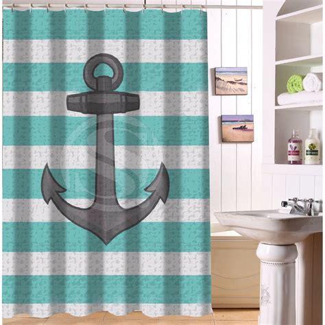 Nice designed waterproof polyester bathroom curtain custom vintage nautical anchor shower