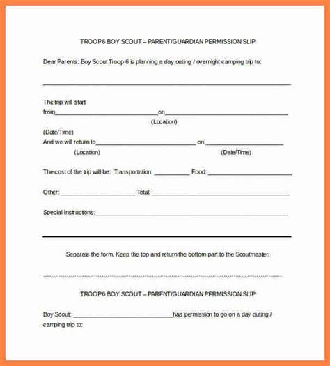 35 permission slip templates field trip forms