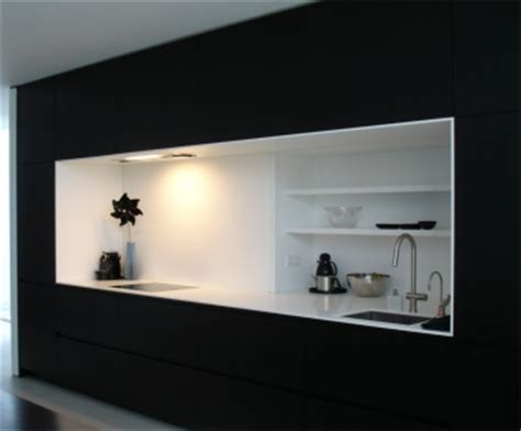 Dichte Corian by Keuken Kastenwand Met Nis Inspiratie Het Beste Interieur
