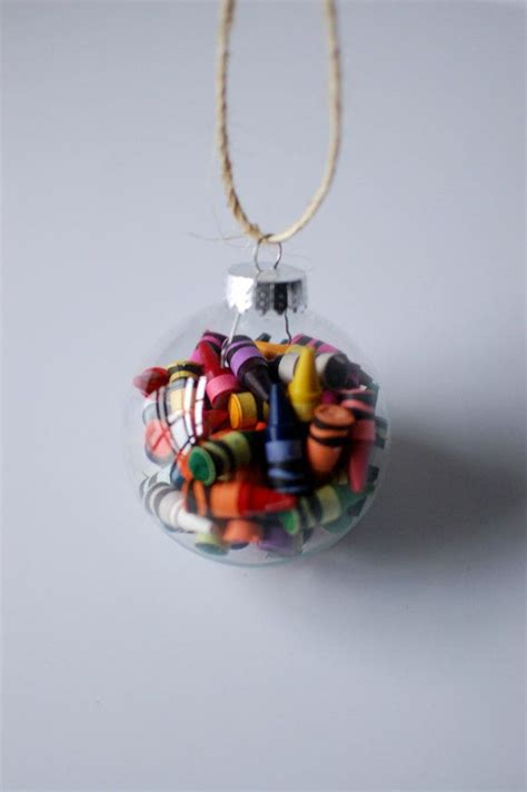 diy ornaments crayon 12 best crayon ornaments images on