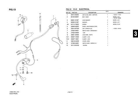 Suzuki Lt50 Parts Uk Genuine Suzuki Lt50 Atv Electrical Emergency Switch Assy