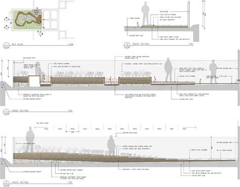 Landscape Architecture Details Burnleylivingroofs Hassell Section 171 Landscape