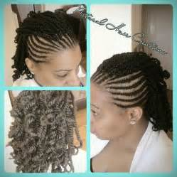 cornrow and twist hairstyle pics kinky twists with cornrows on both sides natural hair my