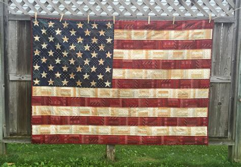 Handmade American Flag - and stripes handmade american flag quilt