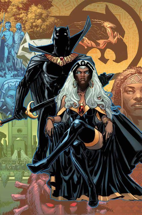 black panther king t challa amp storm ororo munroe