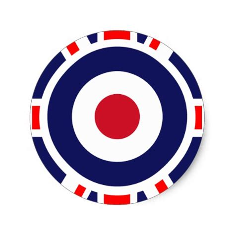 mod target sticker sold at europosters mod target mods england target scooter round sticker zazzle
