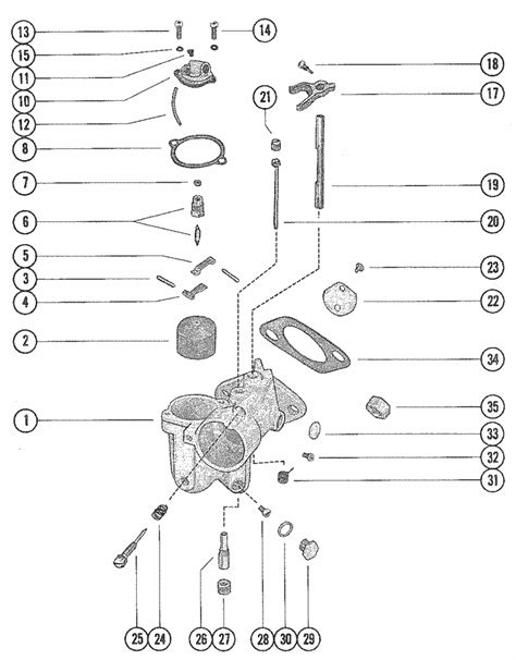 mercury marine 115 hp 6 cylinder carburetor assembly parts