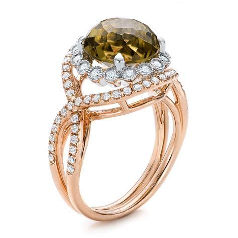 and olive quartz fashion ring 101869