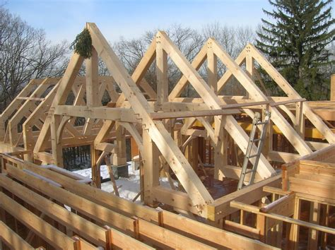 hybrid timber frame  timberframerbob  lumberjockscom