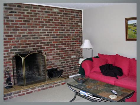 paint colors  compliment red brick  red chair