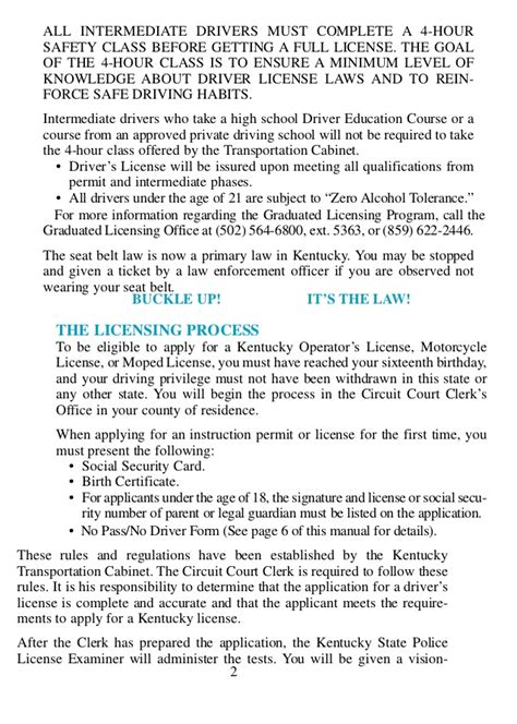 Verification Letter Drivers License Ky Ky Drivers Manual
