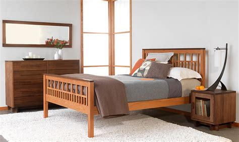 Handcrafted Wood Bedroom Furniture - solid wood bedroom furniture set modern american