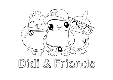 didi coloring page kids coloring pages gambar mewarna didi friends gambar mewarna colouring