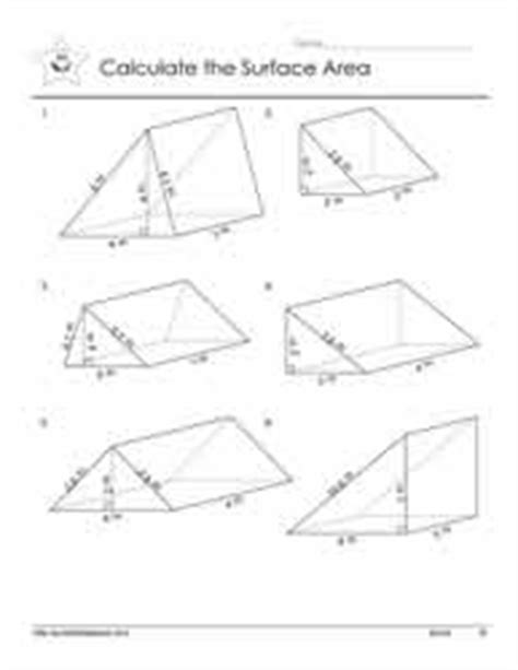 Surface Area Of Triangular Prism Worksheet by Triangular Prism Surface Area Worksheet Worksheets