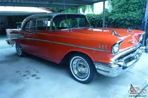 chevy 1957 four door top cool school driver can