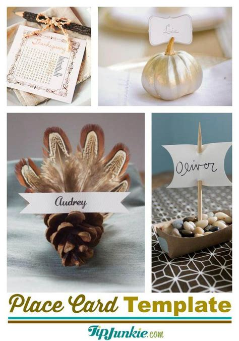 Thanksgiving Place Card Holder Templates by Place Card Holder Template Romeo Landinez Co
