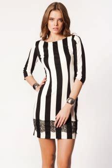 Salsha Tunik 2 boyuna siyah beyaz cizgili dirsekten kollu elbise modeli