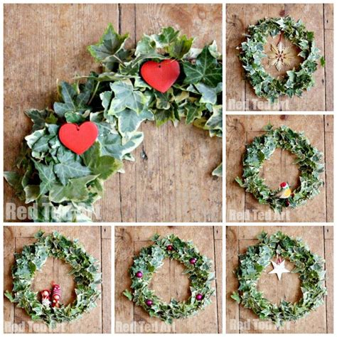 nature christmas wreath traditional crafts red ted art