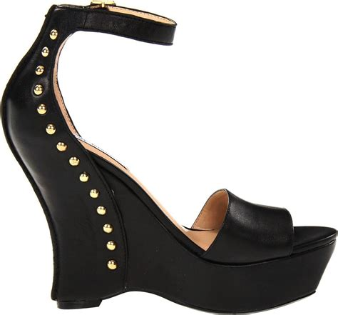 womens shoes steve madden skylur platform studded wedge
