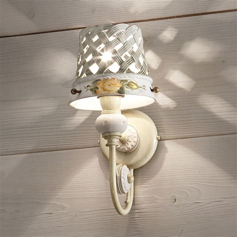 applique ceramica applique design rustico in ceramica decorata ferroluce verona