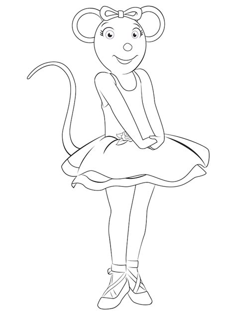 Angelina Ballerina Coloring Pages Coloringpagesabc Com Ballerina Colouring Page